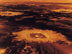 impact crater on Venus